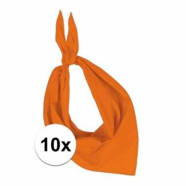 10 stuks oranje hals zakdoeken bandana style