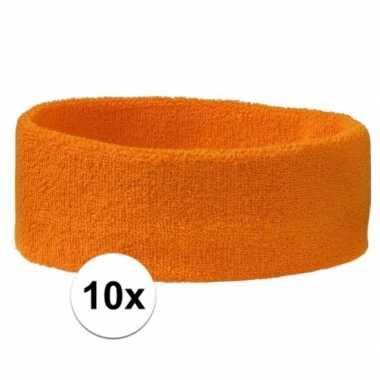 10 stuks oranje hoofd zweetbandjes