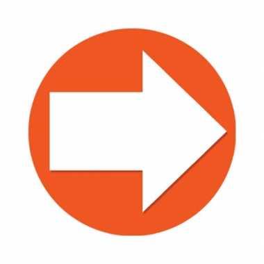 10x oranje artikelen - wegwijs pijlen stickers oranje