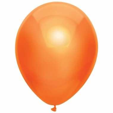 10x oranje metallic heliumballonnen 30 cm