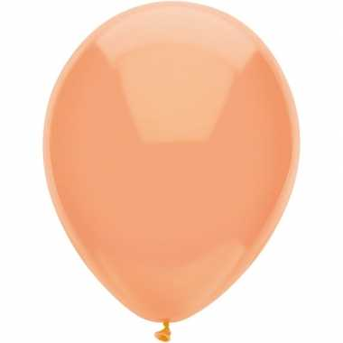 10x perzik oranje metallic heliumballonnen 30 cm