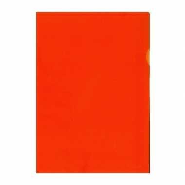 10x tekeningen opbergmap a4 oranje