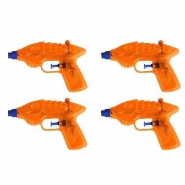10x waterpistool/waterpistolen oranje 16,5 cm
