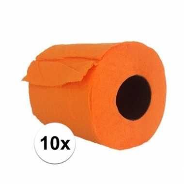 10x wc papier oranje