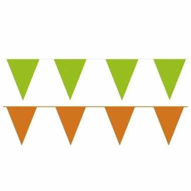 120 meter oranje/groene buitenvlaggetjes