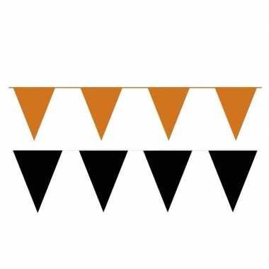 120 meter zwart/oranje buitenvlaggetjes