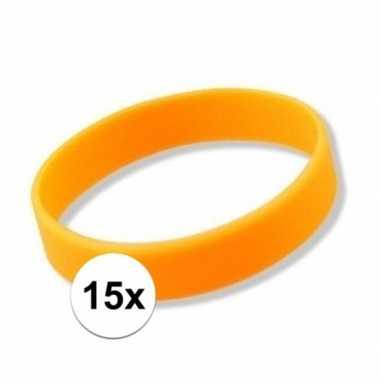 15x oranje armbandjes