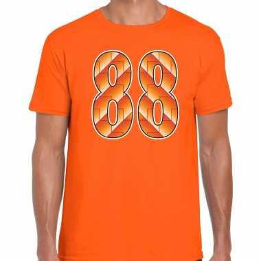 1988 ek / nederlands elftal supporter t-shirt oranje voor heren