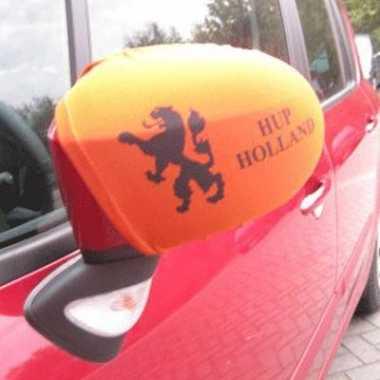 2 autospiegel hoesjes donker oranje