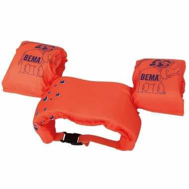 2 in 1 zwembandjes / zwemmouwtjes oranje 15-30 kilo