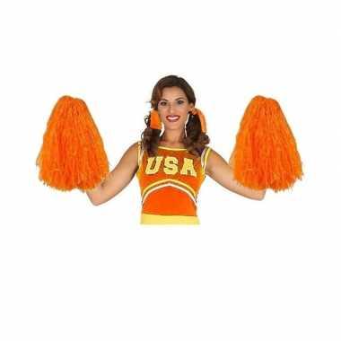 2 stuks oranje cheerballs 33 cm
