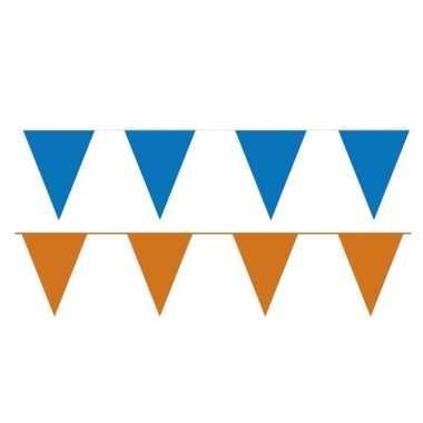 200 meter oranje/blauwe buitenvlaggetjes