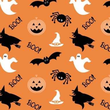 20x halloween thema servetten spook/heks/pompoen 33 x 33 cm oranje