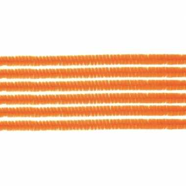 20x hobby chenille draad oranje 50 cm