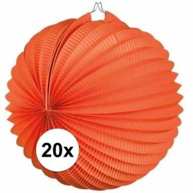 20x oranje lampionnen bolvormig
