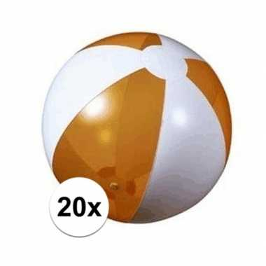 20x strandbal opblaasbaar oranje