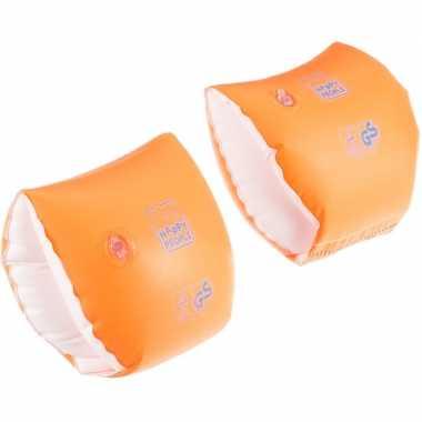 2x oranje zwembandjes/zwemmouwtjes voor babies 11-15 kilogram