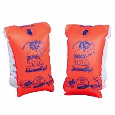 2x oranje zwembandjes/zwemmouwtjes voor babies tot 11 kilogram