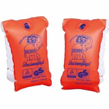 2x oranje zwembandjes/zwemmouwtjes voor kinderen en volwassenen vanaf