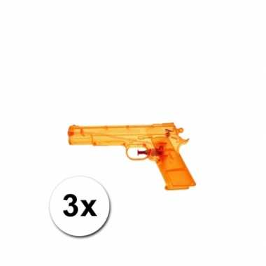 3 voordelige waterpistolen oranje