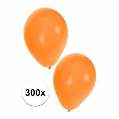 300x oranje holland ballonnen