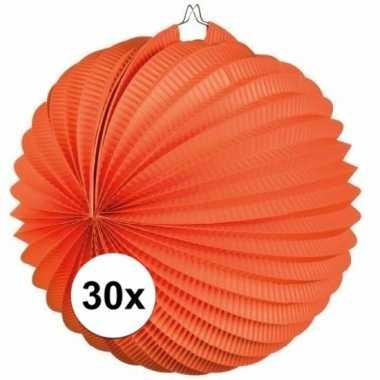 30x oranje lampionnen bolvormig