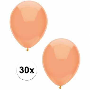 30x perzik oranje metallic heliumballonnen 30 cm