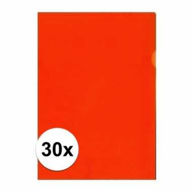 30x tekeningen opbergmap a4 oranje