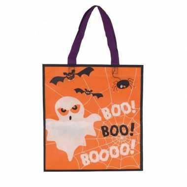 3x halloween snoeptasjes oranje voor kinderen