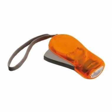 3x led knijpkat oranje 10,5 cm
