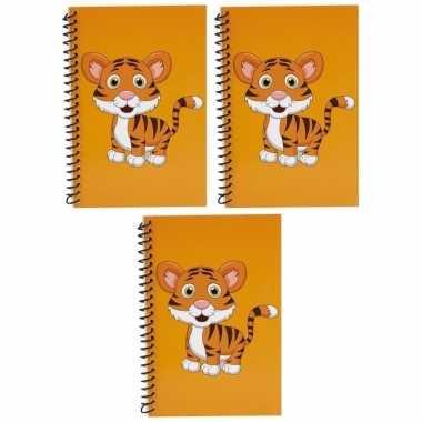 3x stuks schriften tijgers dieren thema oranje 18cm