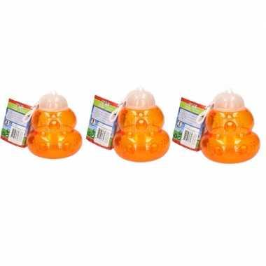 3x wespenvanger kunststof oranje