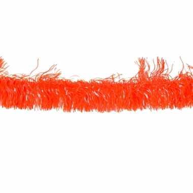 4x oranje holland pvc slinger 4 meter
