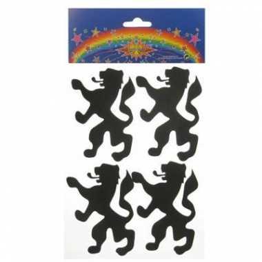 5x foam stickers hollandse leeuw voor oranje fans