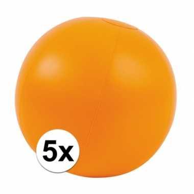 5x oranje standbal