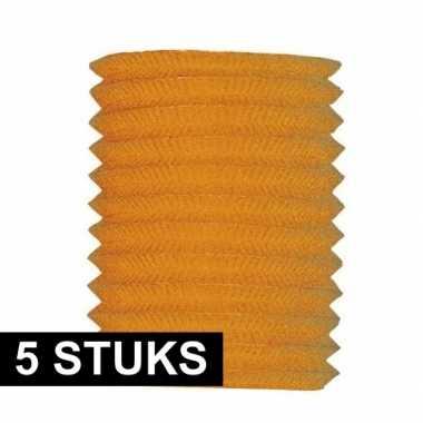 5x treklampion oranje 20 cm hoog