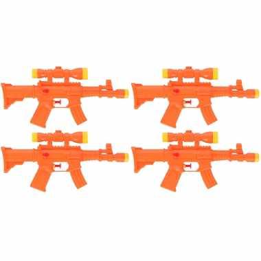 5x waterpistool/waterpistolen oranje 29 cm