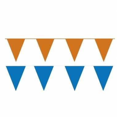 60 meter oranje/blauwe buitenvlaggetjes