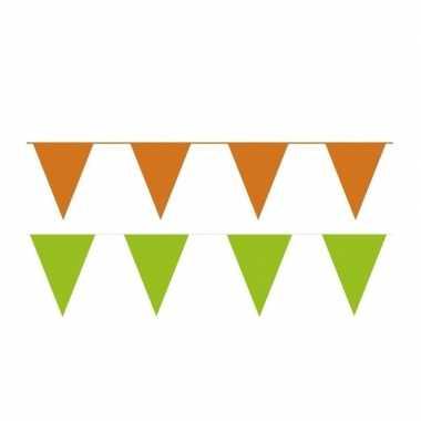 60 meter oranje/groene buitenvlaggetjes