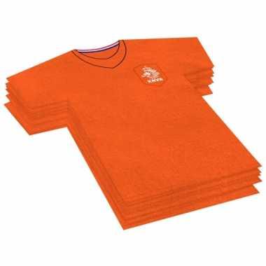 60x oranje voetbalshirt feest servetten 16 x 15 cm