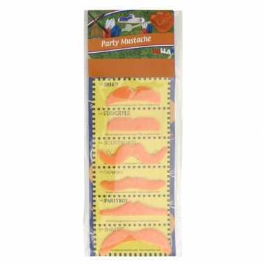 6x oranje koningsdag plaksnorren verkleedaccessoires