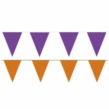 80 meter oranje/paarse buitenvlaggetjes