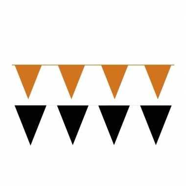 80 meter zwart/oranje buitenvlaggetjes