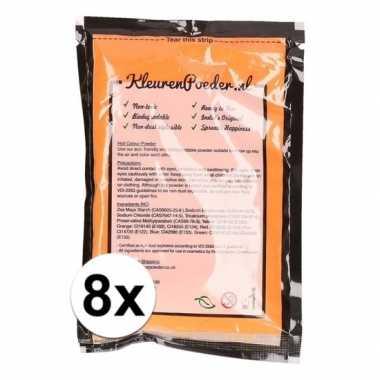 8x holi poeder oranje 100 gram