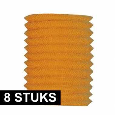 8x treklampion oranje 20 cm hoog