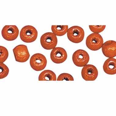 Armbandjes rijgen 52 oranje kralen