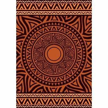 Badlaken xl met bruin/oranje mandala print zaka voor volwassenen 140