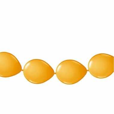 Ballon slinger oranje 3 meter