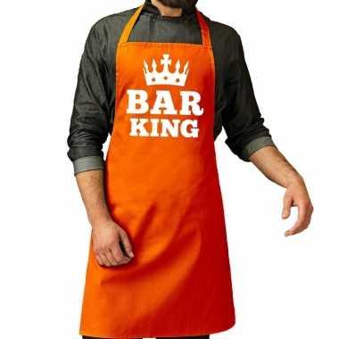 Bar king keuken schort oranje heren