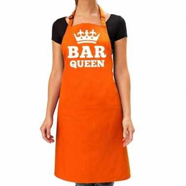 Bar queen keuken schort oranje dames